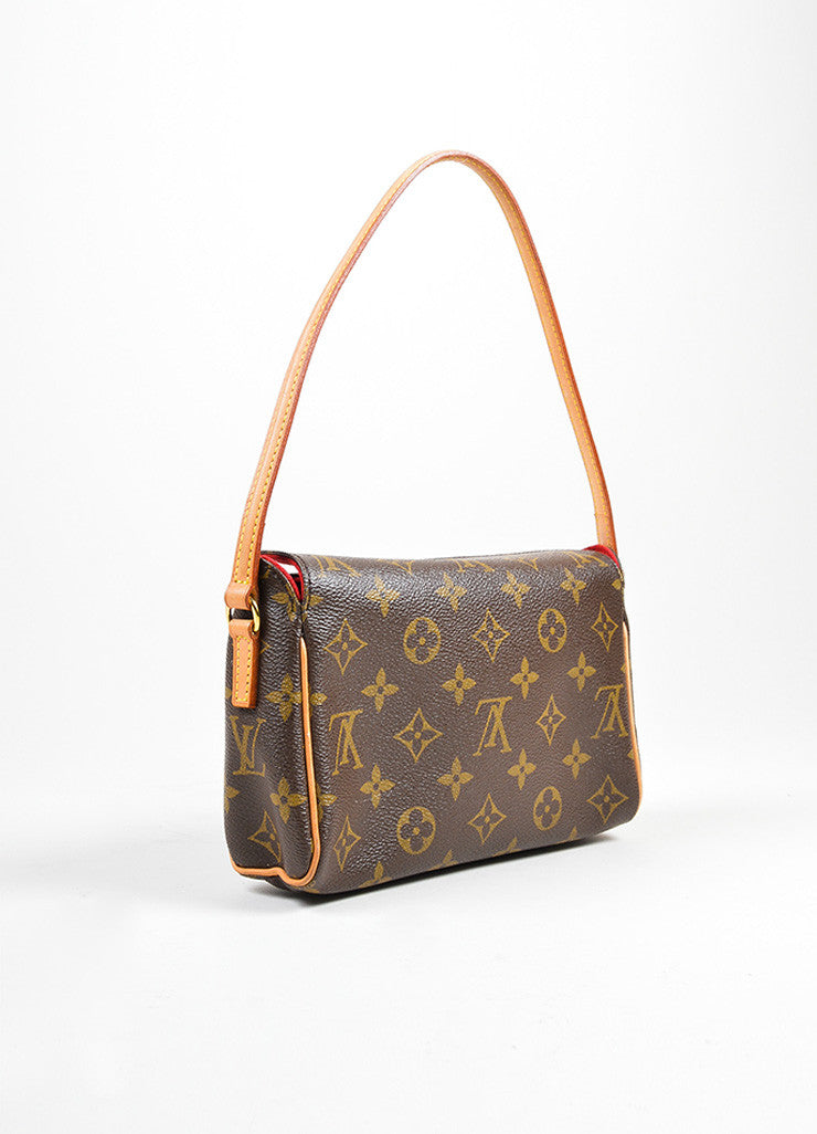 "Brown Louis Vuitton Monogram Canvas ""Recital"" Shoulder Bag Sideview"