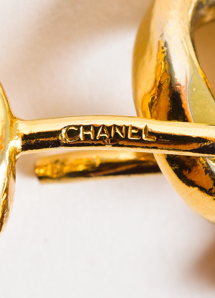 Chanel Gold Toned Perfume Charm Tassel Curb Chain Belt Brand