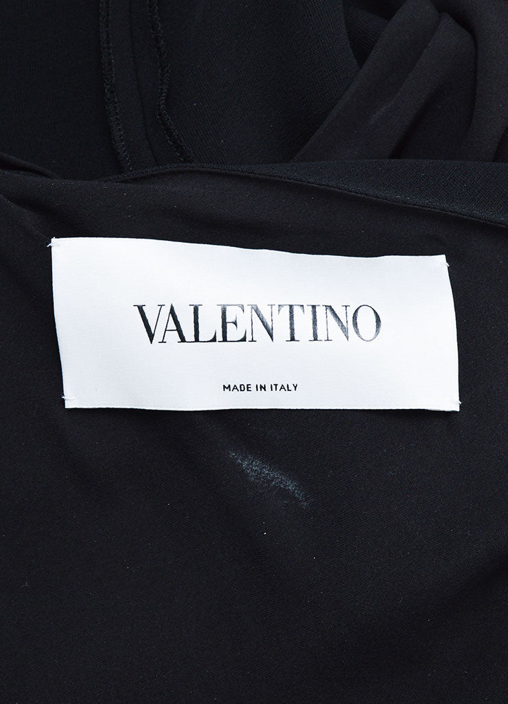 Black Valentino One Shoulder Tie Neck Jumpsuit Brand