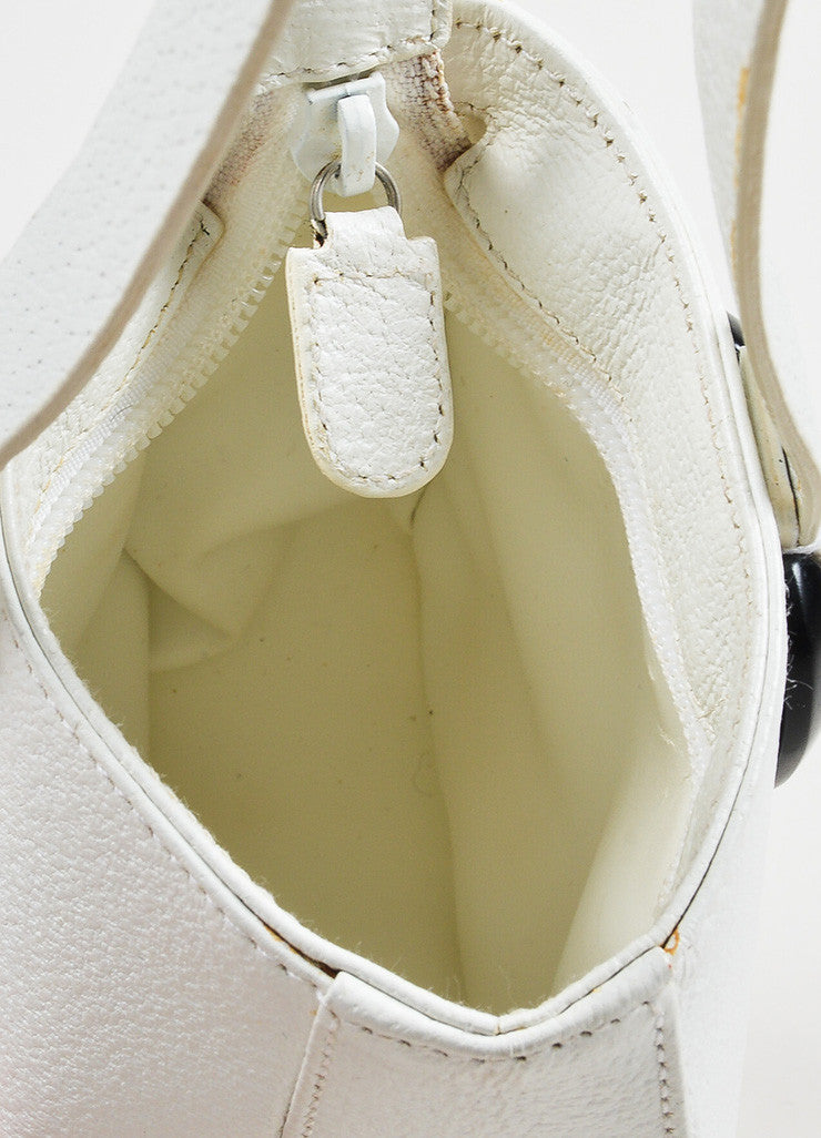 Gucci White Leather Mini Handbag Detail 4