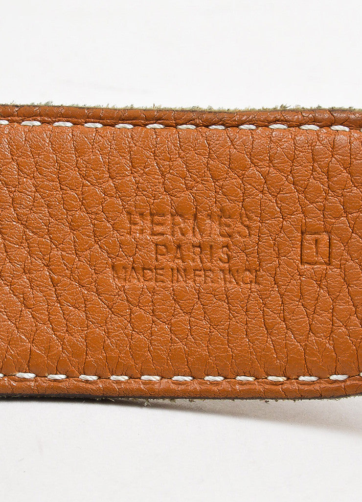 "Black and Brown Hermes Leather Reversible Horsebit ""H"" Belt Brand"
