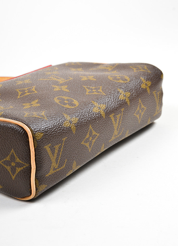 "Brown Louis Vuitton Monogram Canvas ""Recital"" Shoulder Bag Bottom View"