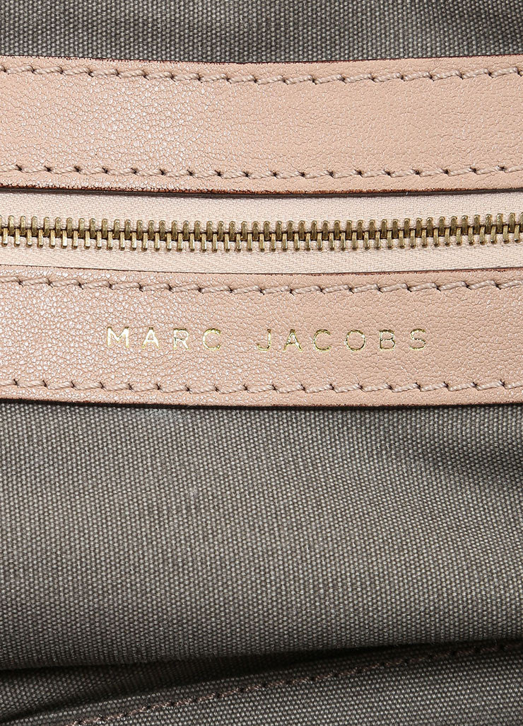 "Marc Jacobs Beige Leather ""Paradise Little Janice"" Studded Satchel Bag Brand"