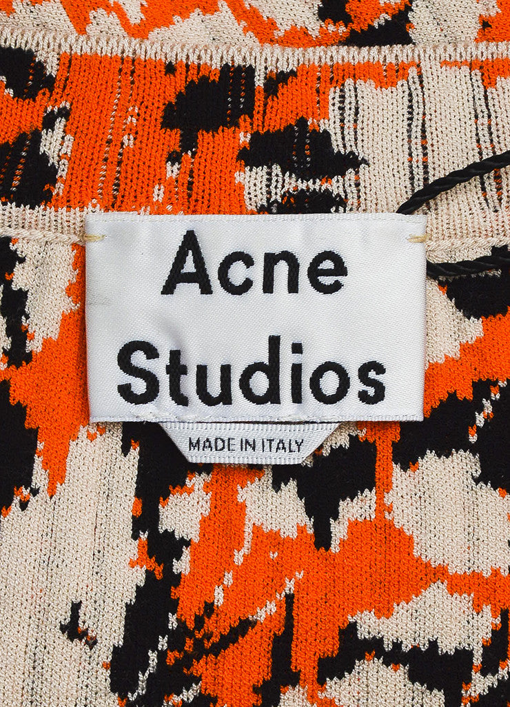 "Acne Studios Cream and Orange Jacquard Knit ""Jana Stripe"" T-Shirt Brand"