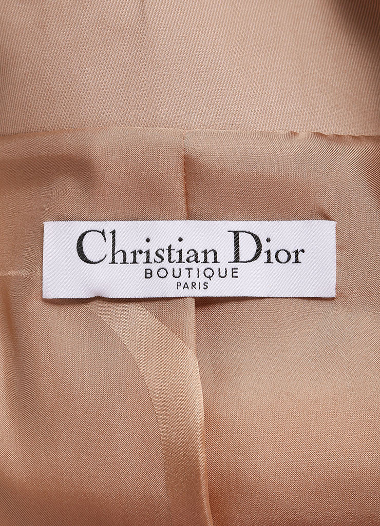 Christian Dior Blush Cotton and Lace Velvet Trim Short Double Breasted Jacket Brand