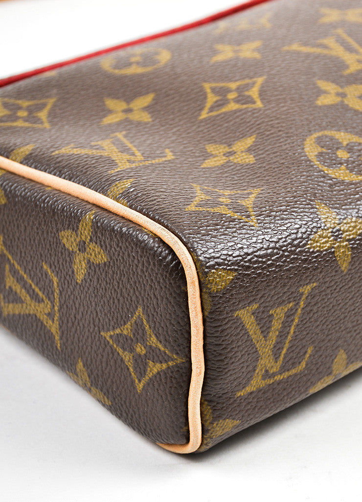 "Brown Louis Vuitton Monogram Canvas ""Recital"" Shoulder Bag Detail"