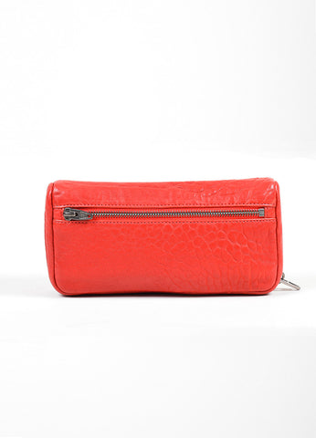 Red Alexander Wang Shrunken Lambskin Fumo Continental Wallet Frontview