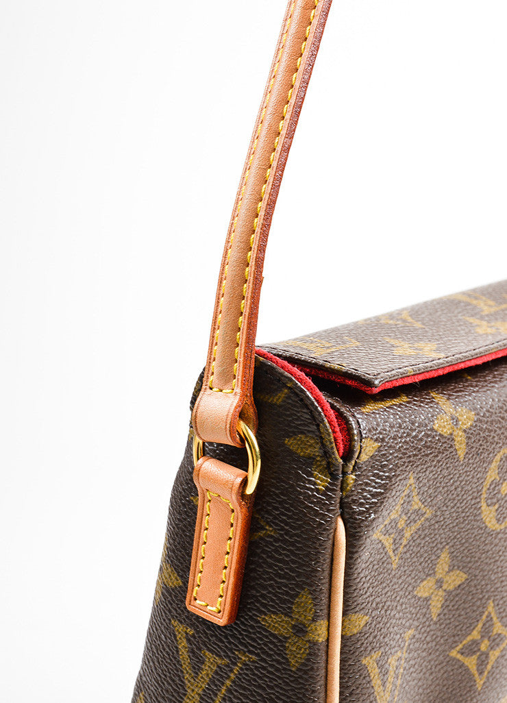 "Brown Louis Vuitton Monogram Canvas ""Recital"" Shoulder Bag Detail 2"