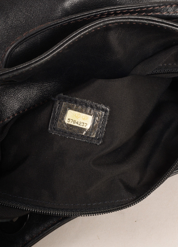 Chanel Black Leather Drawstring Backpack Hologram