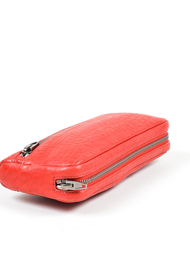 Red Alexander Wang Shrunken Lambskin Fumo Continental Wallet Bottom View