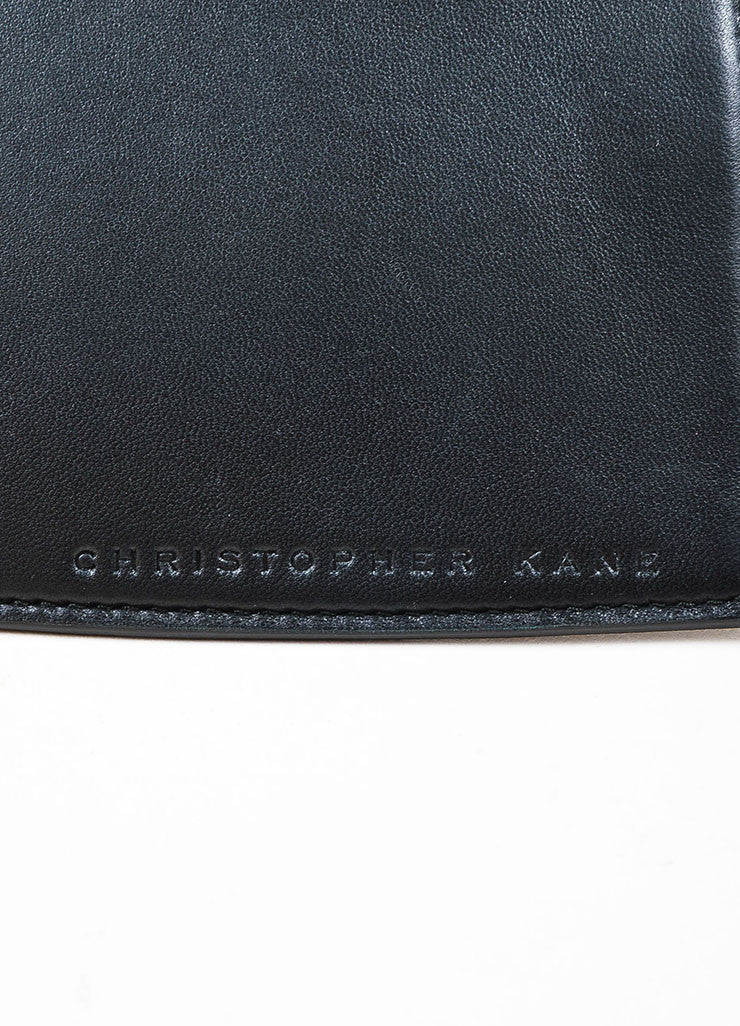Christopher Kane Black Leather Zip Around Heart Shaped Clutch Bag Brand
