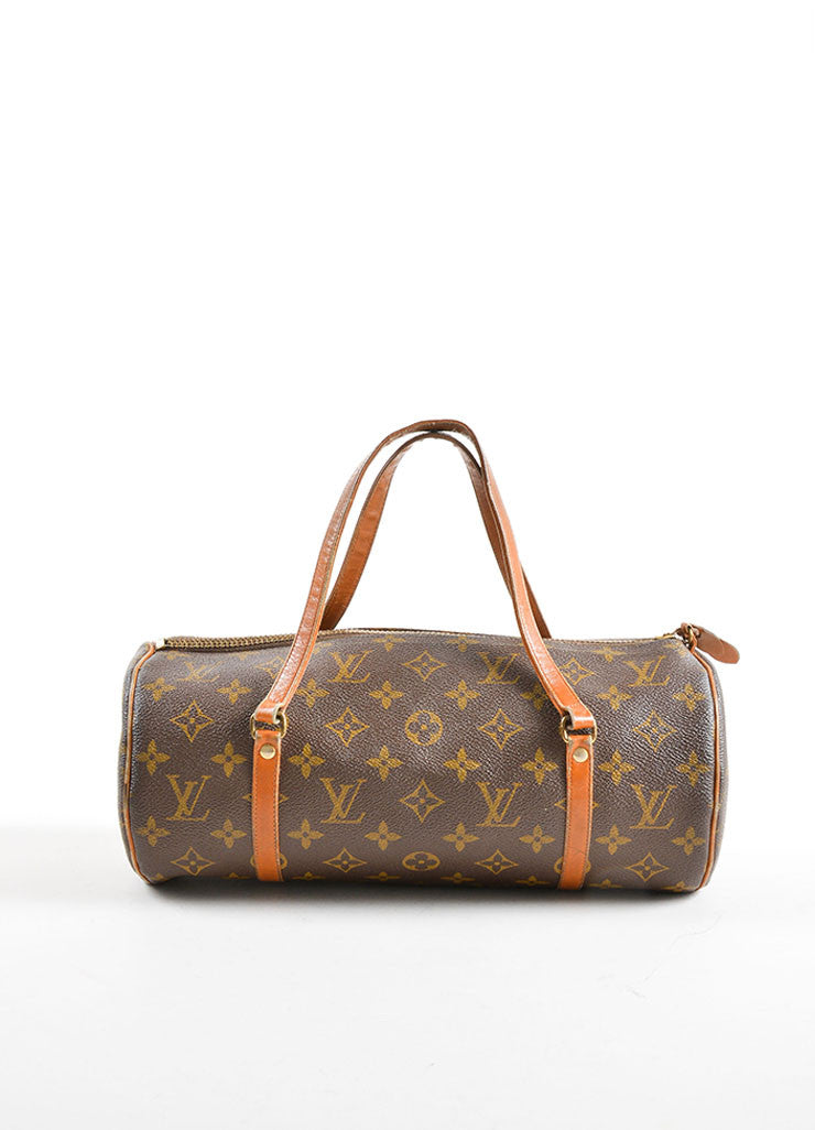 "Louis Vuitton Brown Coated Canvas and Leather Monogram ""Papillon 30"" Bag Frontview"