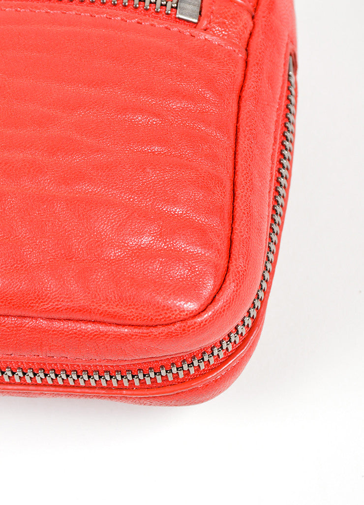 Red Alexander Wang Shrunken Lambskin Fumo Continental Wallet Detail