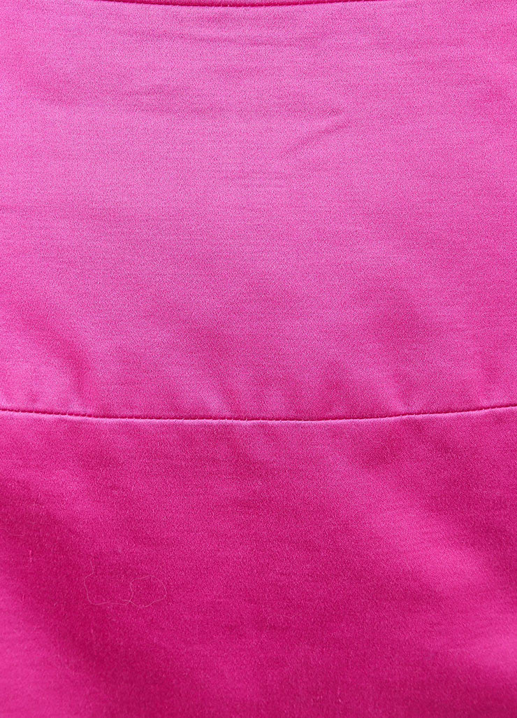 Chanel Pink Poplin Button Pencil Skirt Detail