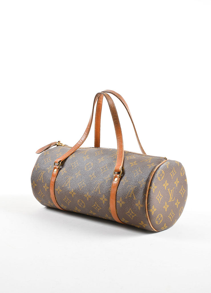 "Louis Vuitton Brown Coated Canvas and Leather Monogram ""Papillon 30"" Bag Sideview"