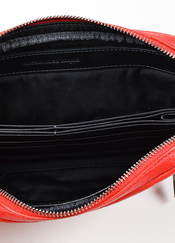 Red Alexander Wang Shrunken Lambskin Fumo Continental Wallet Interior