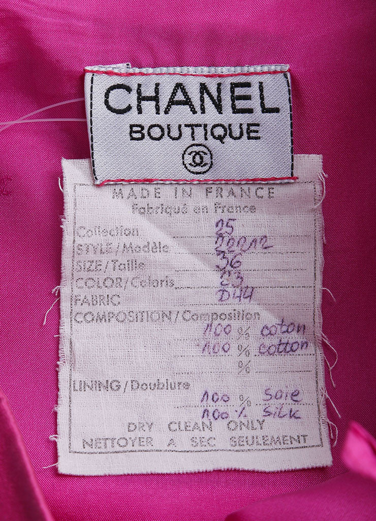 Chanel Pink Poplin Button Pencil Skirt Brand