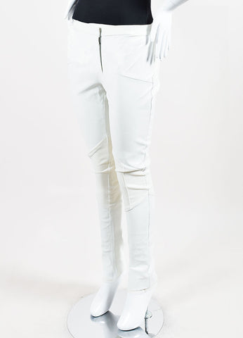 White Karolina Zmarklak Leather Stretch Pants Sideview