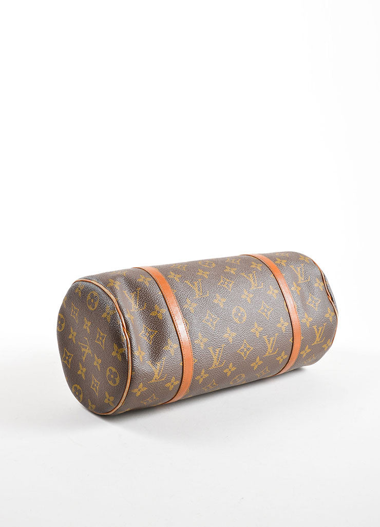 "Louis Vuitton Brown Coated Canvas and Leather Monogram ""Papillon 30"" Bag Bottom View"