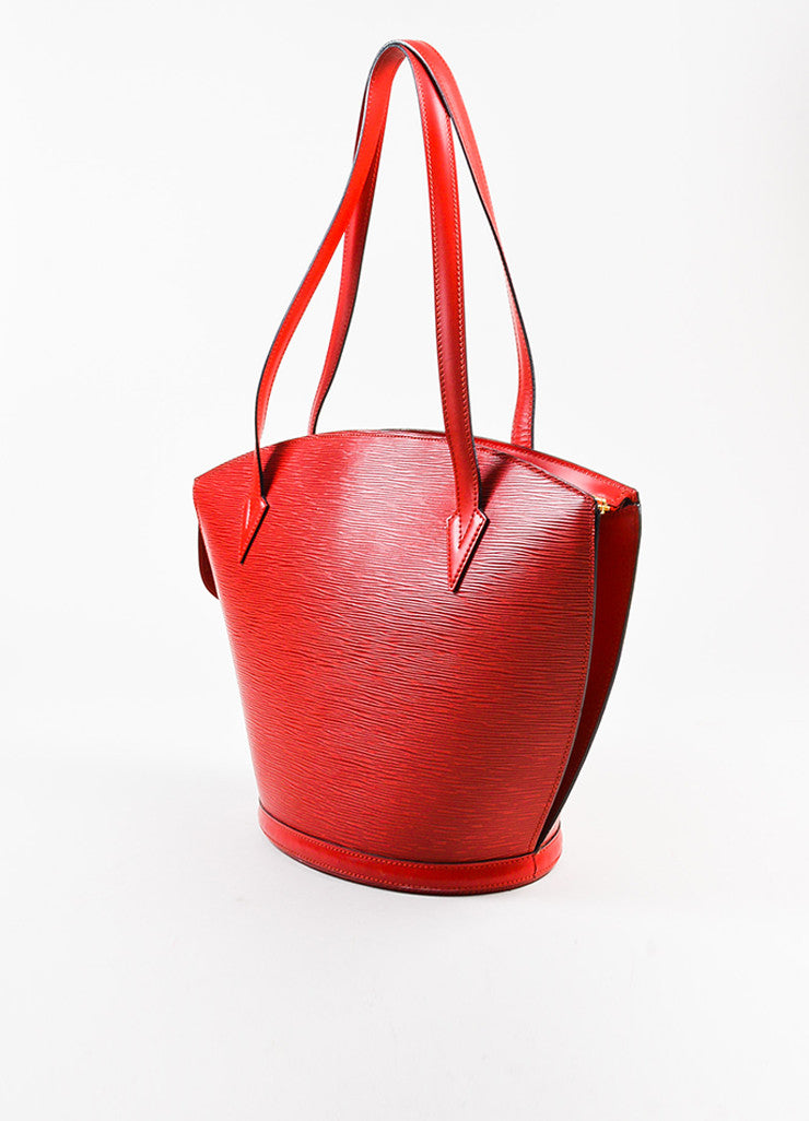 "Louis Vuitton Red Epi Leather ""Saint Jacques GM"" Shopping Tote Bag Sideview"