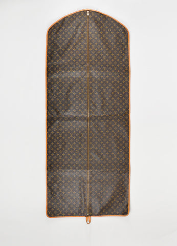 Brown Louis Vuitton Coated Canvas Garment Bag Front