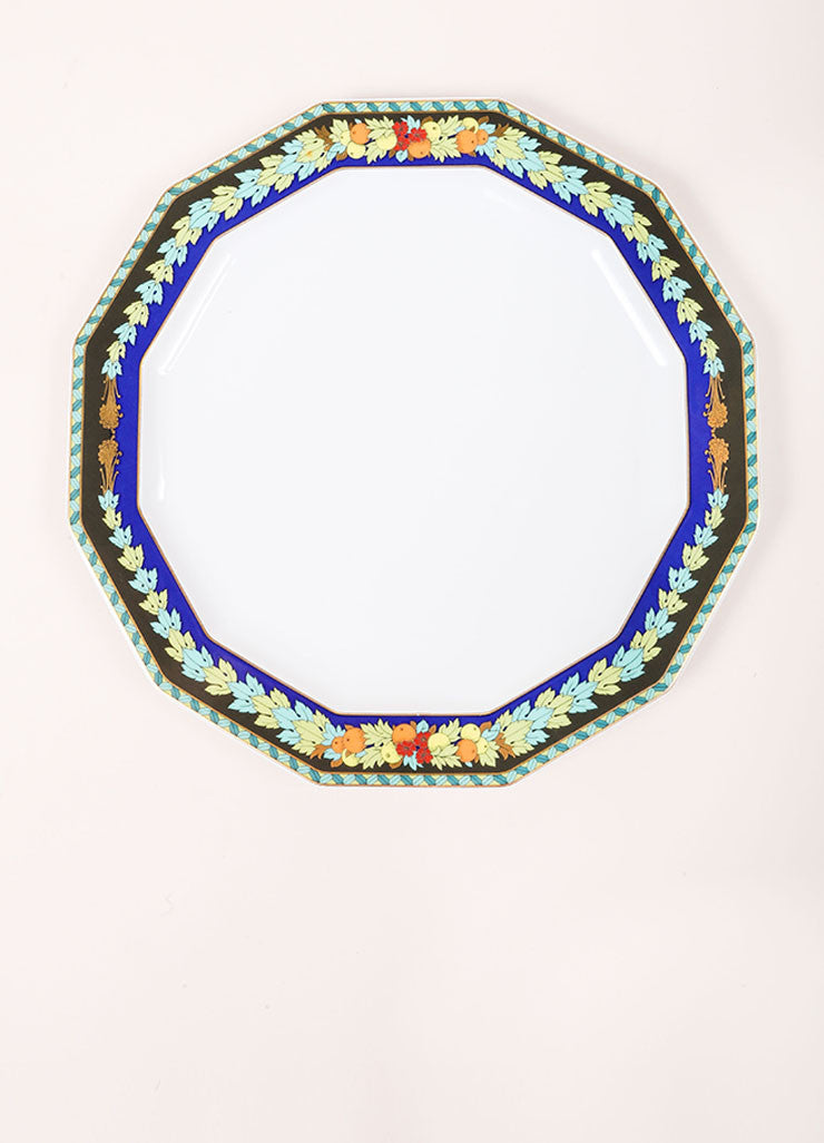 "Versace Rosenthal Multicolor ""Le Roi Soleil' 10.5 inch Dodecagon Dinner Plate Frontview"