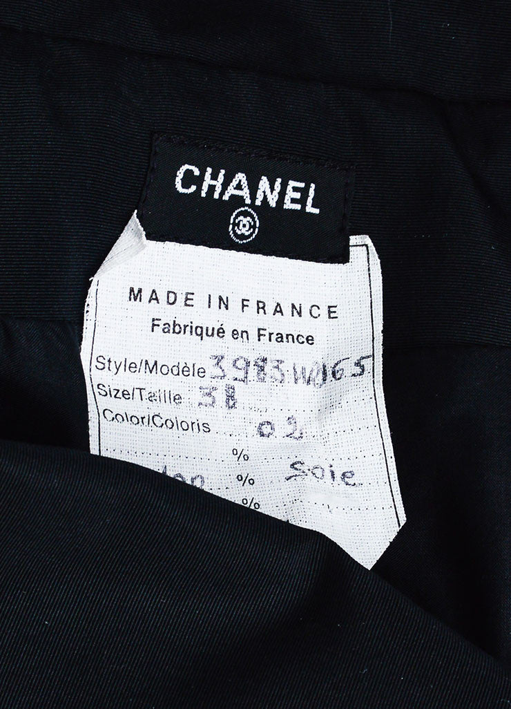 Black Chanel Silk Coverall Long Sleeve Jumpsuit Brand