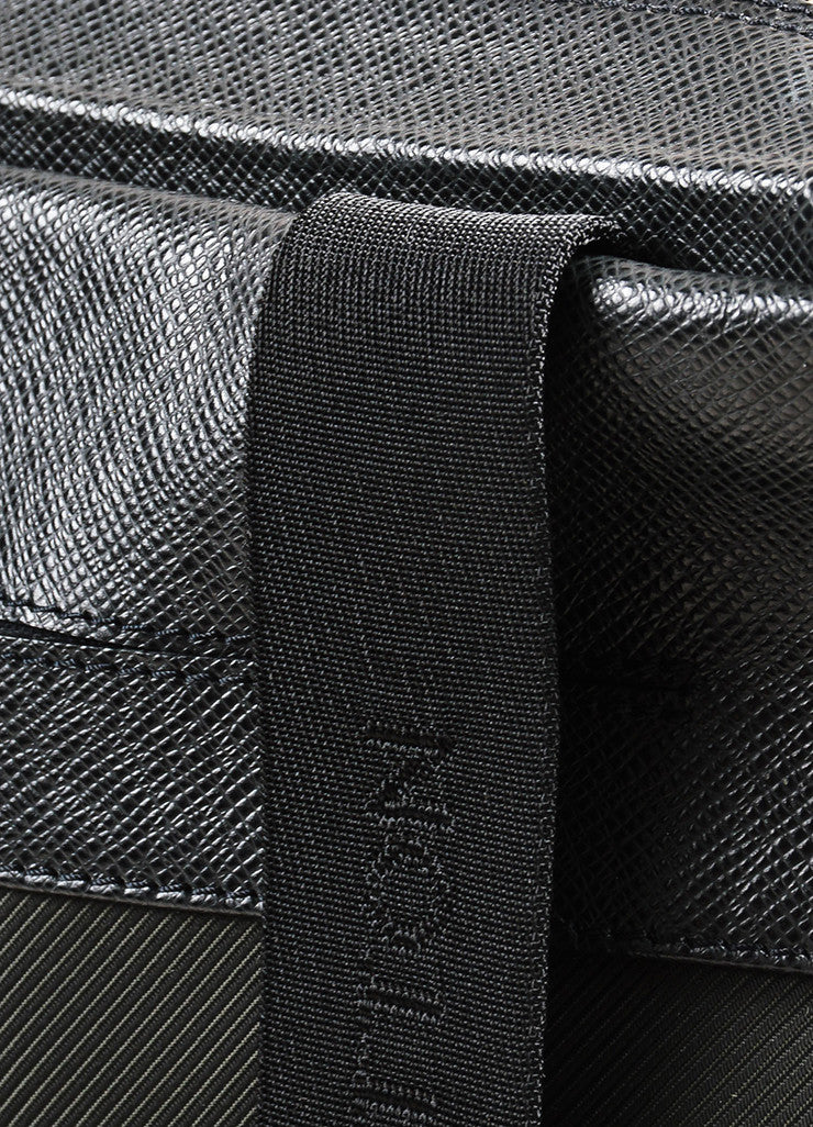 "Louis Vuitton ""Ardoise"" Black Leather ""Beloukha"" Messenger Shoulder Work Bag Detail 2"