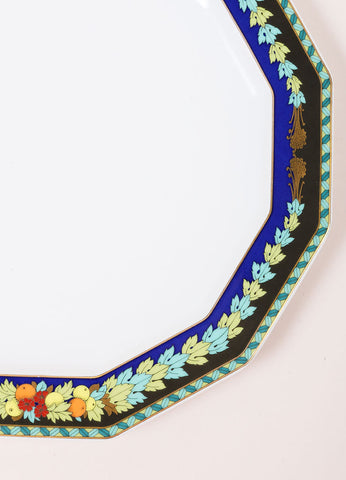"Versace Rosenthal Multicolor ""Le Roi Soleil' 10.5 inch Dodecagon Dinner Plate Detail"