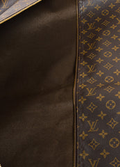 Brown Louis Vuitton Coated Canvas Garment Bag Detail