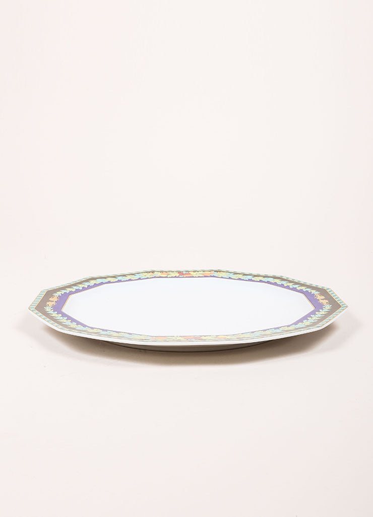 "Versace Rosenthal Multicolor ""Le Roi Soleil' 10.5 inch Dodecagon Dinner Plate Sideview"