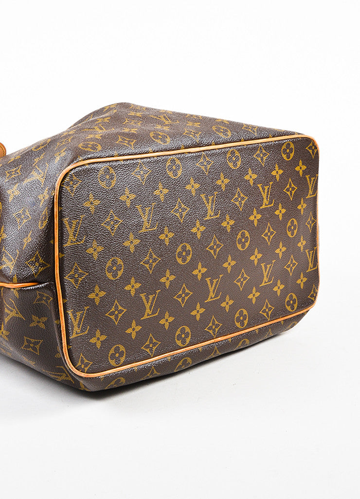"Louis Vuitton Brown and Tan Coated Canvas Monogram Canvas ""Palermo GM"" Bag Bottom View"