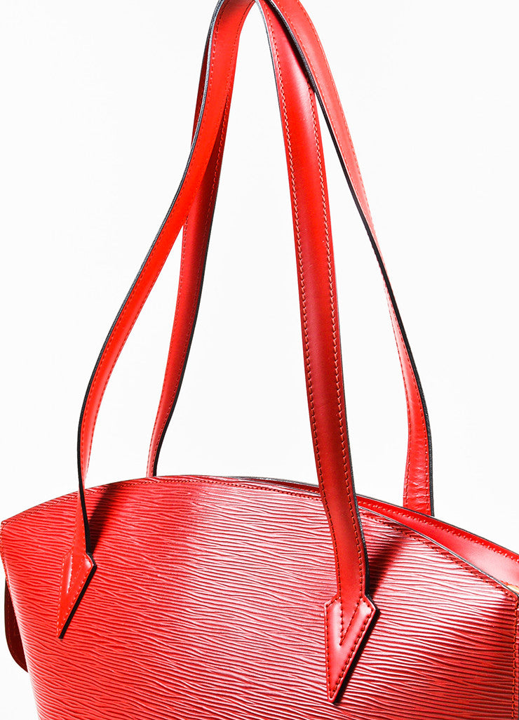 "Louis Vuitton Red Epi Leather ""Saint Jacques GM"" Shopping Tote Bag Detail 2"