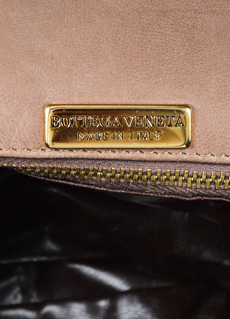 Taupe Bottega Veneta Intrecciato Woven Crossbody Bag Brand