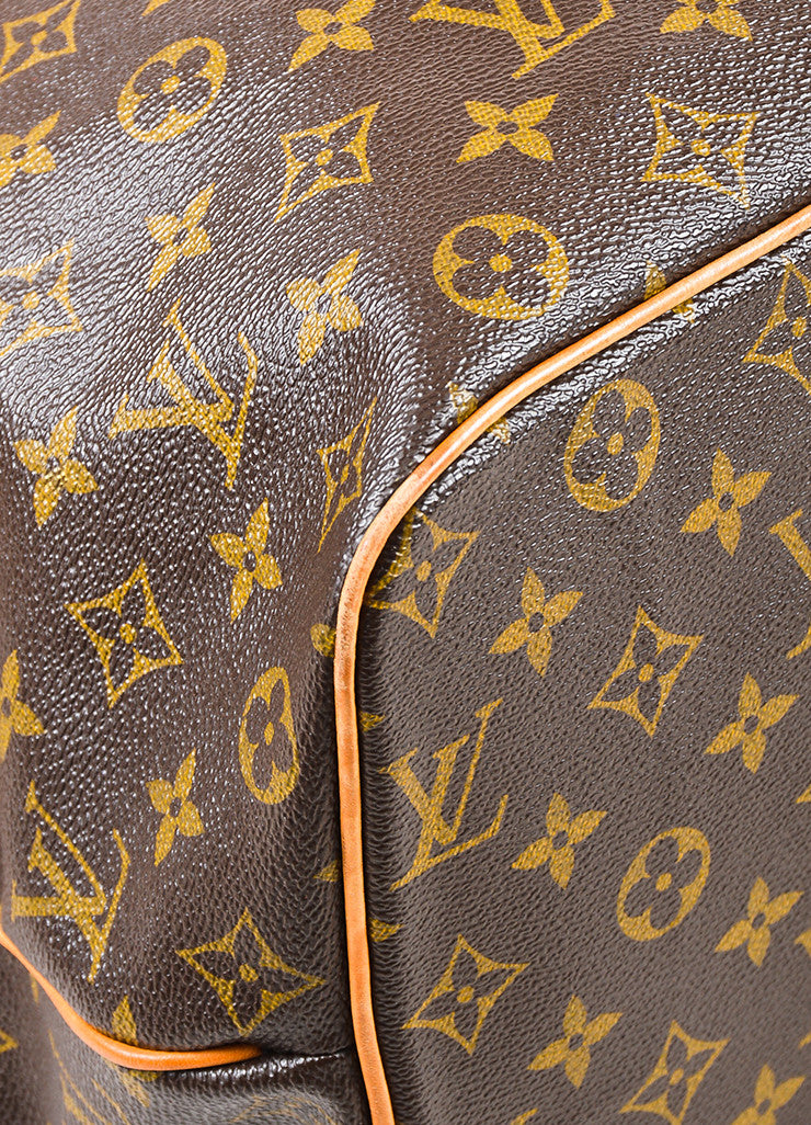 "Louis Vuitton Brown and Tan Coated Canvas Monogram Canvas ""Palermo GM"" Bag Detail"