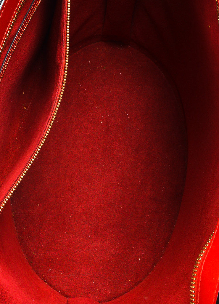 "Louis Vuitton Red Epi Leather ""Saint Jacques GM"" Shopping Tote Bag Interior"