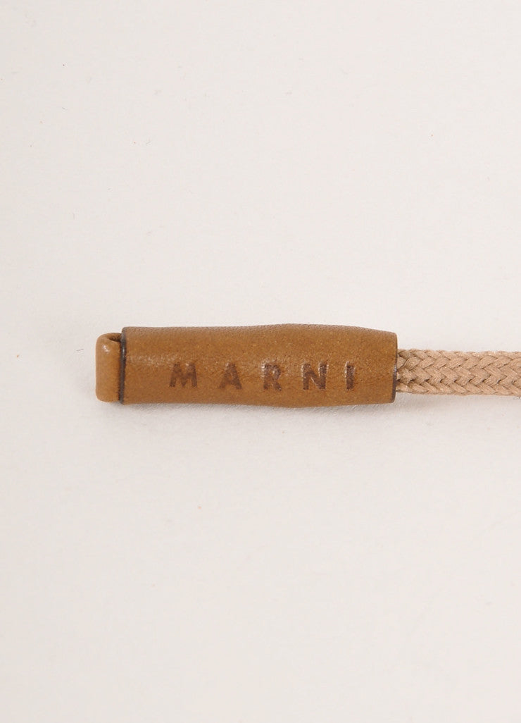 Marni Pink and Orange Wood and Plastic Cord Necklace Brand
