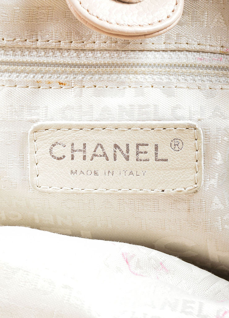 Chanel Blush Beige Braided Leather Chain Strap Slouchy Bag Brand