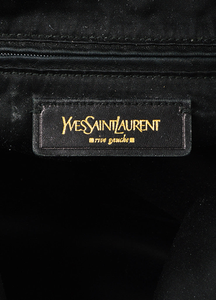 "Yves Saint Laurent Rive Gauche Blue Patent Leather ""Downtown"" Tote Bag Brand"