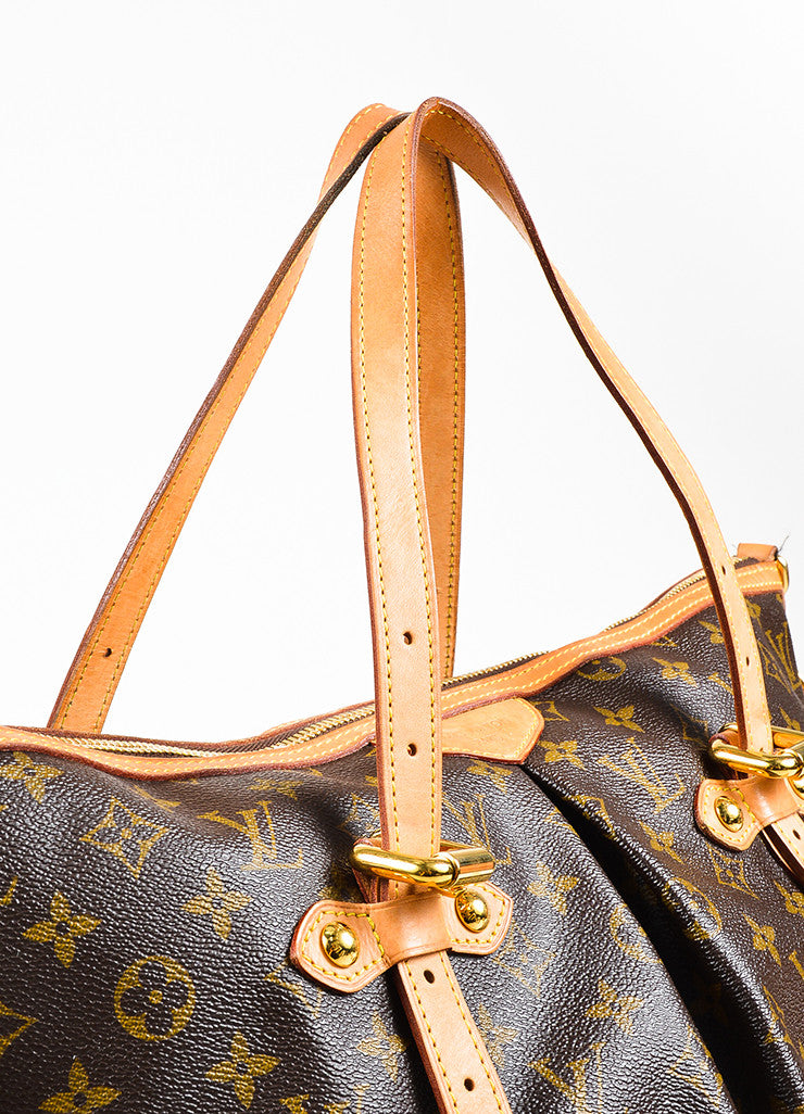 "Louis Vuitton Brown and Tan Coated Canvas Monogram Canvas ""Palermo GM"" Bag Detail 2"