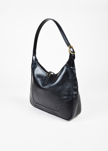 "Hermes Black Box Calf Leather GHW ""Trim 31"" Hobo Bag Sideview"