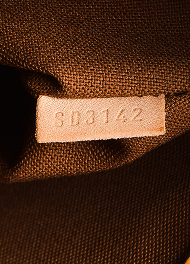 "Louis Vuitton Brown and Tan Coated Canvas Monogram Canvas ""Palermo GM"" Bag Date Code"