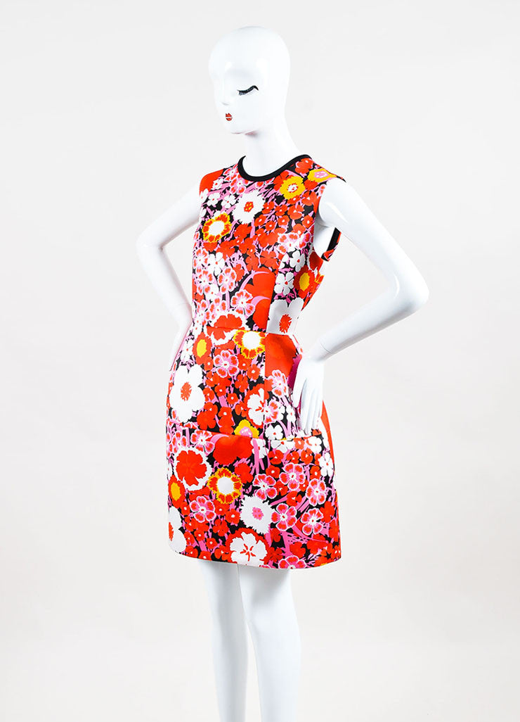 Multicolor Victoria Beckham Floral Sleeveless A Line Dress Front