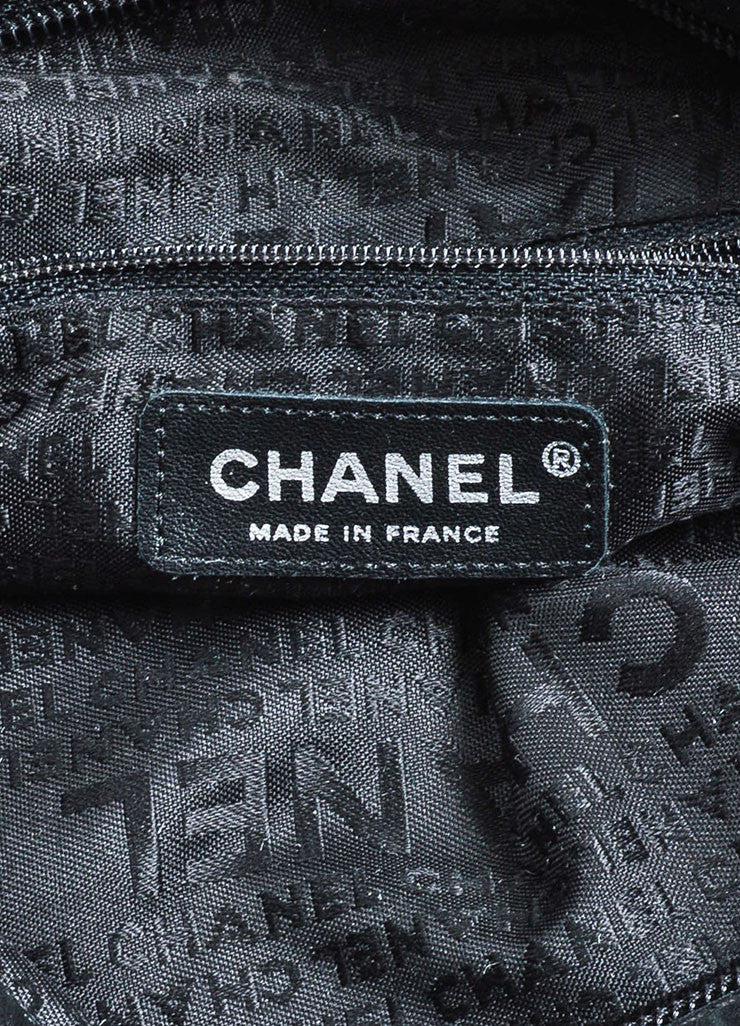 Chanel Black Quilted Leather Fold Over Chain Strap Shoulder Bag Brand