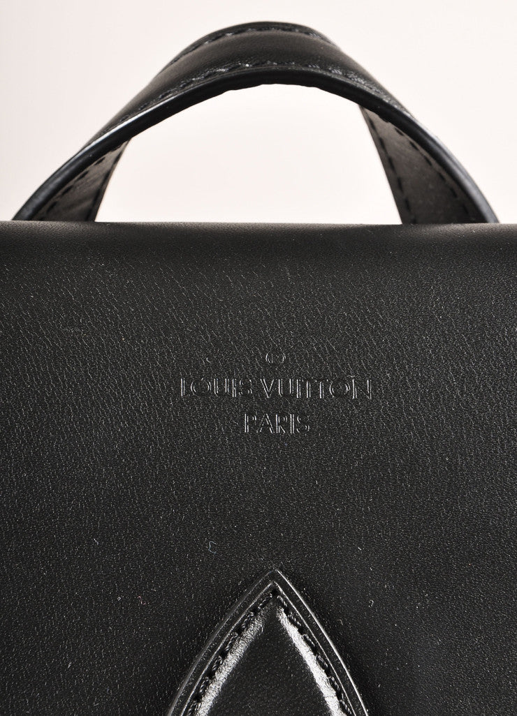 "Louis Vuitton Brown and Black Monogram Macassar Canvas and Leather ""Palk"" Backpack Detail 3"