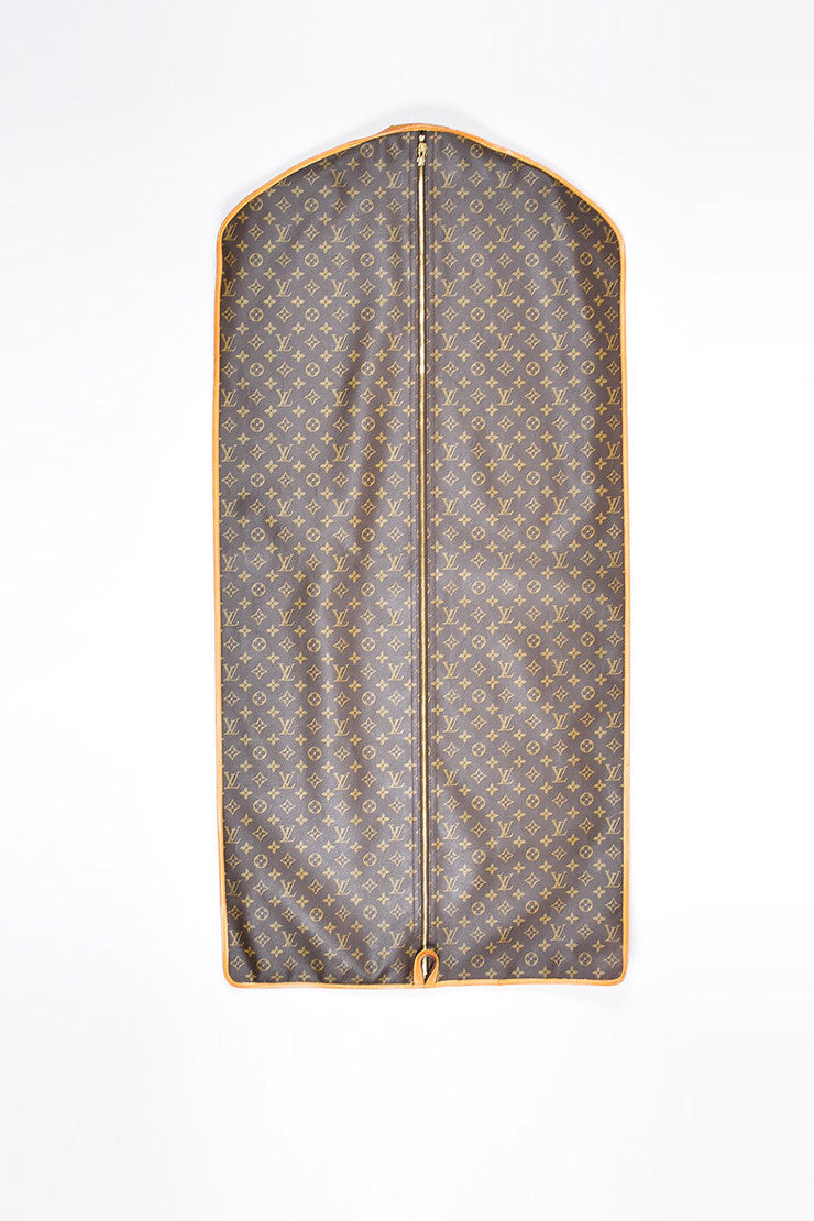 Brown Louis Vuitton Coated Canvas Monogram Garment Cover Bag Front