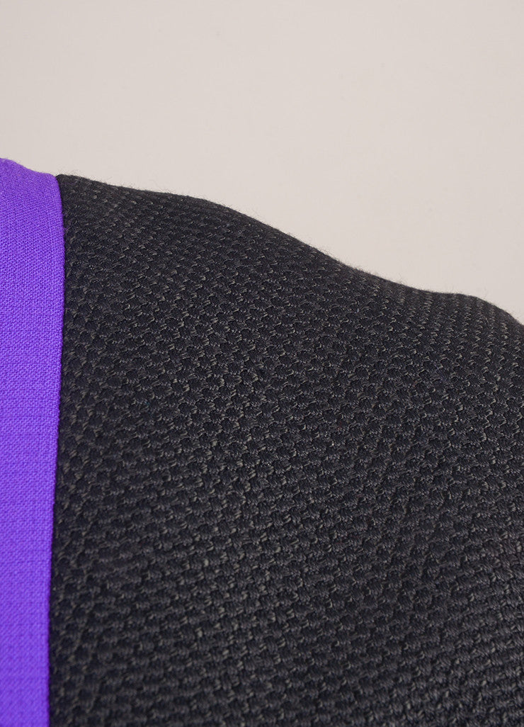 Roksanda Ilincic New With Tags Purple, Cream, and Black Wool Blend Color Block Dress Detail 2
