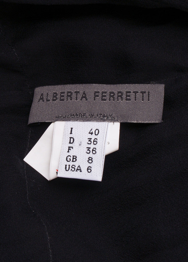 Alberta Ferretti Black Silk Chiffon Ruched Sheer Jacket Brand