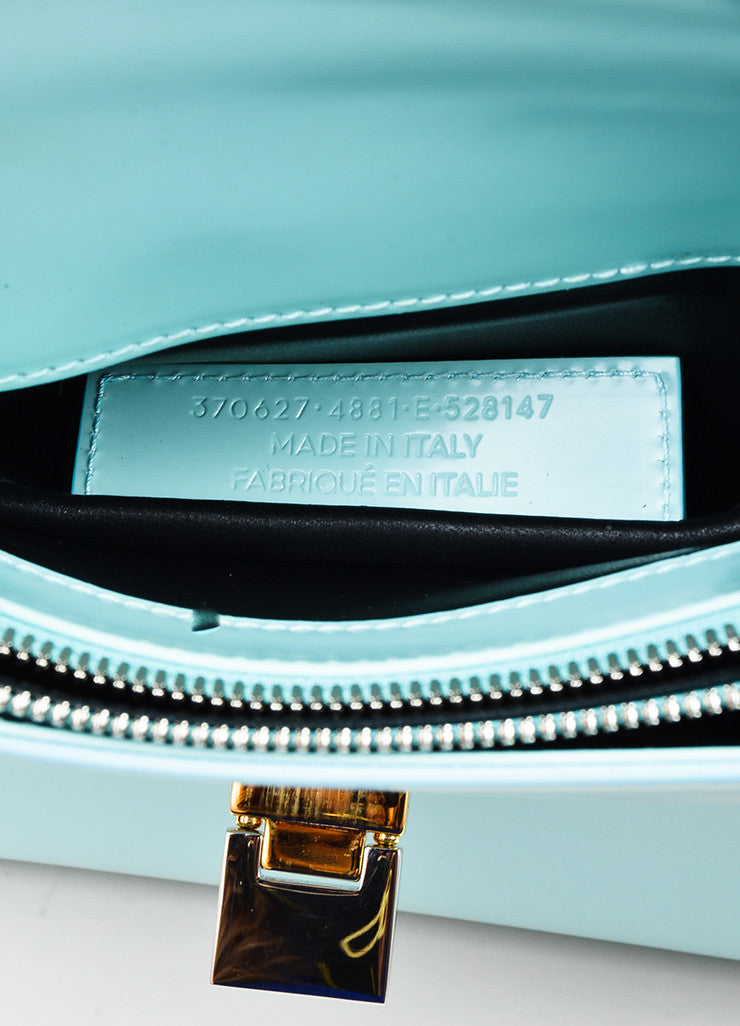 "Balenciaga Sky Blue Navy Leather ""Le Dix New Cartable S"" Structured Bag Serial"