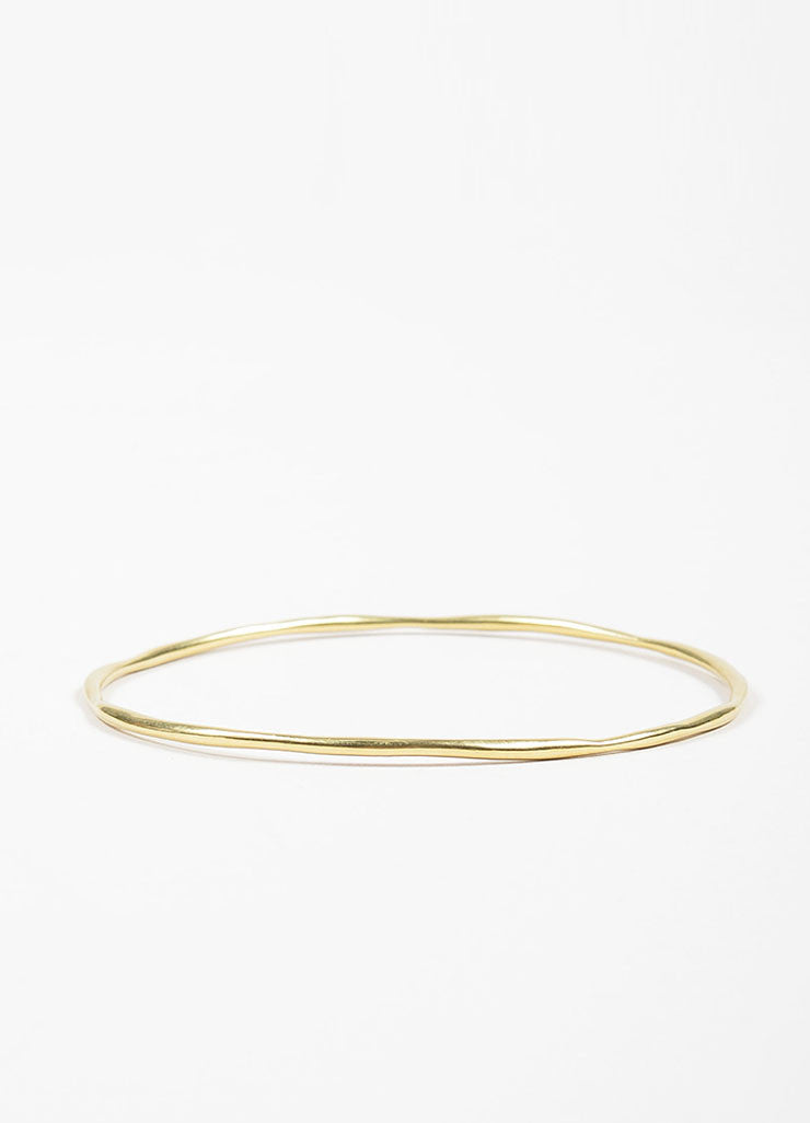 "Ippolita 18K Yellow Gold ""Glamazon Squiggle"" Skinny Bangle Bracelet Frontview"